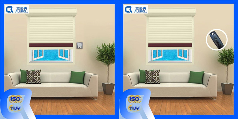 Exterior Vertical Manual and Electric Aluminum Rolling Shutter