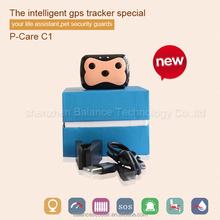 Worlds smallest pet gps tracker P-care C1 gps cat tracking collars pet tracker