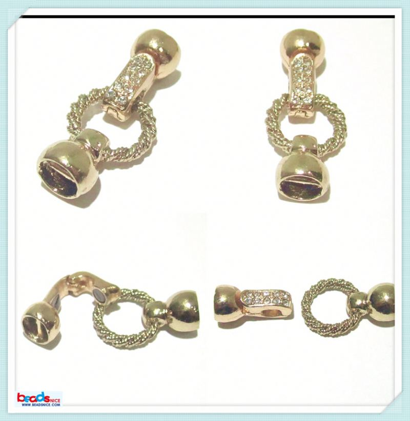 ID 27073 Crystal magnetic clasp end claps making supplies wholesale costume jewelry and accessories