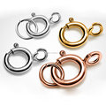5mm 6mm 7mm 4 Colors 925 Sterling Silver Round Claw Spring Clasps With Jump Ring Jewelry Findings Components SC-CZ119