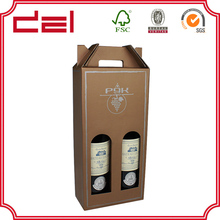 Cheap custom corrugated board wine bottle gift boxes wholesale