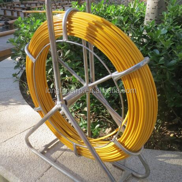 10mm *200mConduit Snakes Cable Handling Equipment Fiberglass Fish Tape / frp cable duct rodder, Pulling cables tool fiberglass