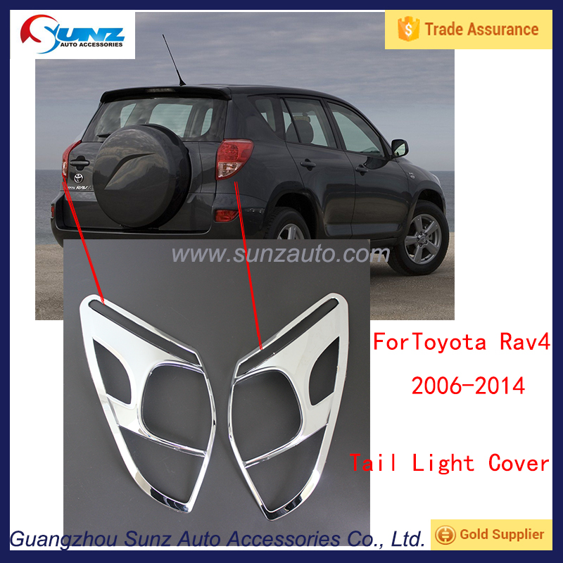 ABS Chrome Rear headlight Lamp Cover For 2006-2014 Toyota RAV4 Rear light cover Tail lamp trims Accessories