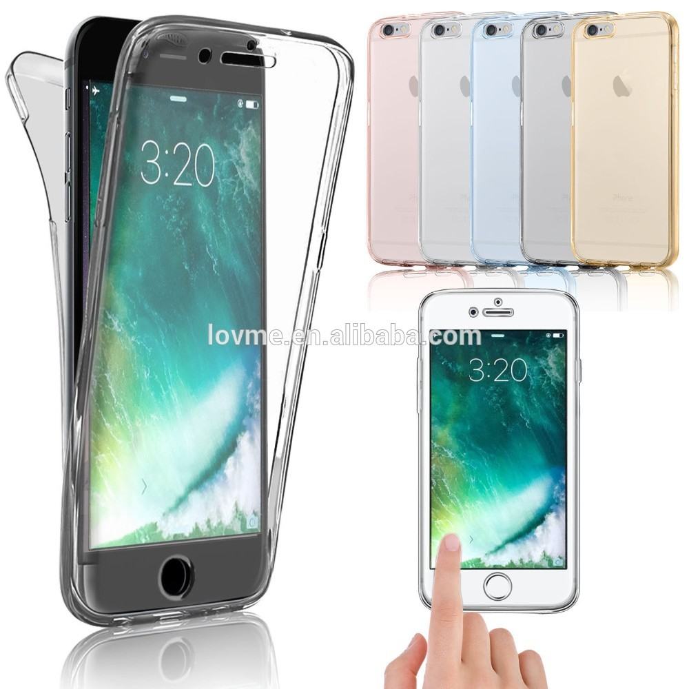 Low Price China Mobile Phone Cover For iPhone 360 Case, 360 Degree Full Body Transparent TPU Case For iPhone 7 Case 360