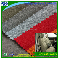 Lichee pattern knitted backing synthetic leather car seat covers