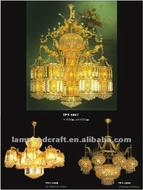 China plated gold modern led chandelier crystal lighting