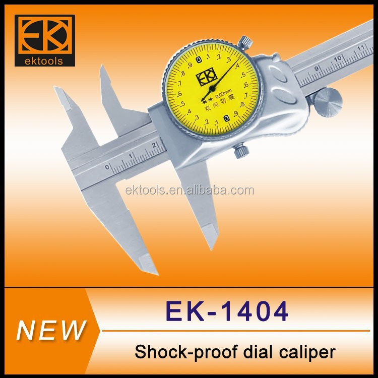 Metric or inch type dial caliper gages