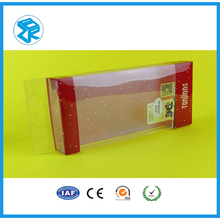 New style plastic material PVC plastic folding boxes with hanging hole