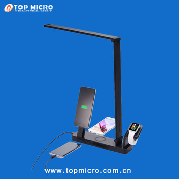 Multi Functions Touch Sensor Controller Lamps Cell Phone Dock with Wireless Charger Charging Stand