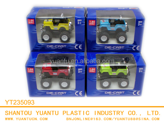 1:64 Die Cast Pull Back Alloy Jeep Models For Children(4 Colors)