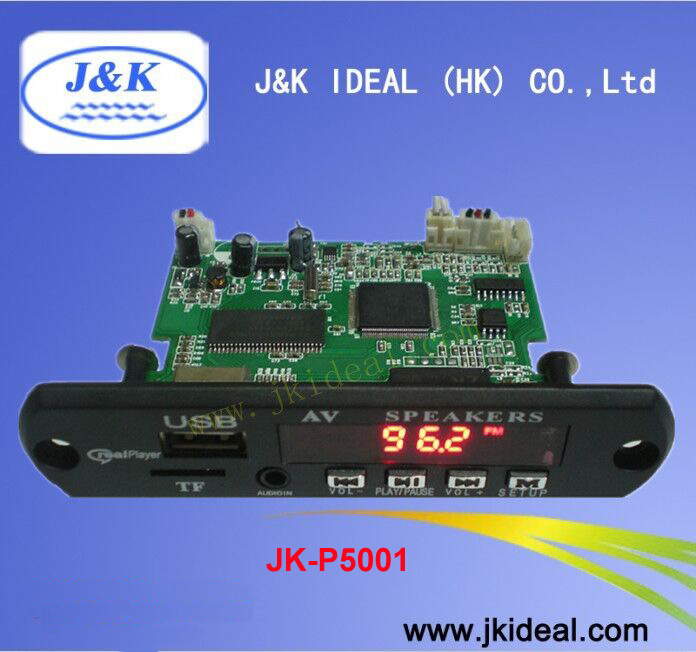 JK-P5001 USB TF car mp5 video kit