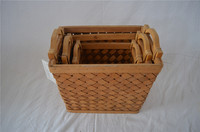 Cheap Home Decor Antique Wood Basket