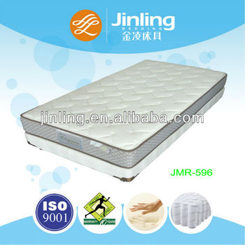 Pocket coil spring mattress with green tea memory foam in topper