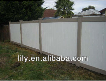 100% virgin pvc material privacy fence, strong uv protection fence garden fence