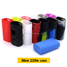 Fashion colorful silicone Soft case skin / silicone cover / silicone sleeve for Smok alien 220W kit Box mod Wrap