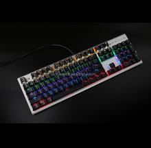 2018 Factory direct sale mixed backlit wired mechanical gaming keyboard