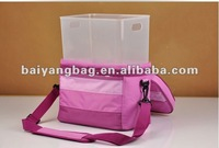 Foldble cooler bag, school bag and lunch box, picnic lunch box