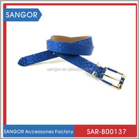 Branded original embroidery letter leather belt