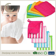 LC TMW-123 organic muslin square face cloth bamboo baby wash cloth