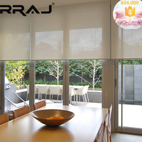 RRAJ Electrically Operated Roll up Sunscreen Window Blinds