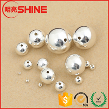 in stock good quality silver /gold plated 4mm stainless steel bead for jewelry or bracelet