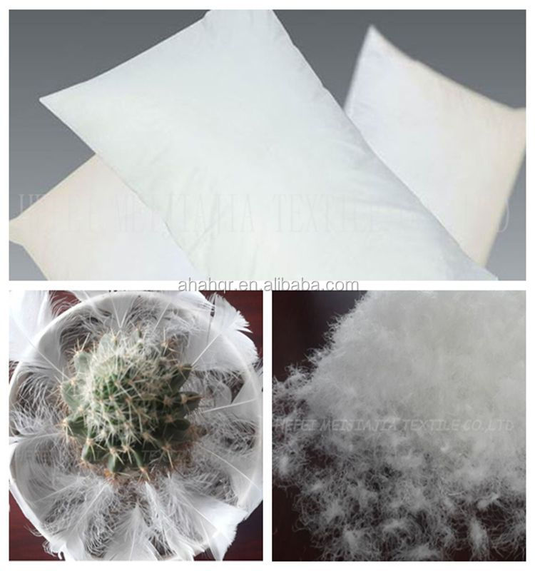 Washed white duck feather pillow in pillow 50x70cm