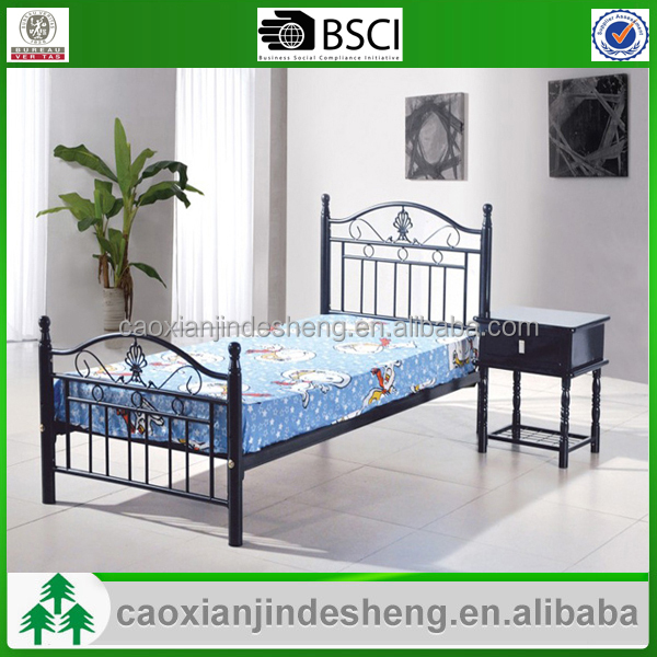 Top quality simple single metal beds beautiful cheap metal for Good quality single beds