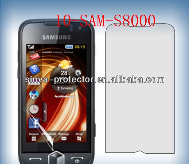 Lowest price HD clear screen guard japan pet for samsung s8000