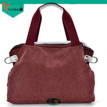 2015 lady fashion designer canvas colorful handbag women's shopping hand bag high quality wholesale