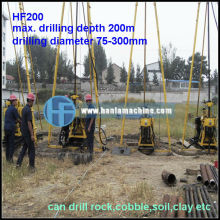 HF180 Trailor Mounted Portable Water Well Drilling Rigs