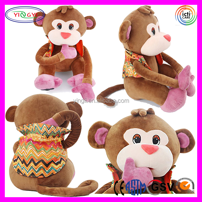A280 Long Arms Monkey Girl Plush Toy Magnetic Monkey Stuffed Animal