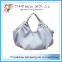 Fashionable Beautiful Shiny polyester Handbag for ladies women