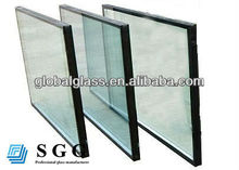 High Quality Clear Insulating double glazing Glass 6+6A+6mm thick
