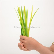 Custom Silicone grass leaf pen shaped ball point pen in pot