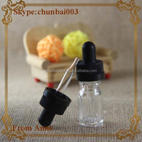 hot sale in 2015 year childproof clear eliquid glass bottles with childproof cap sample glass bottles 5 ml