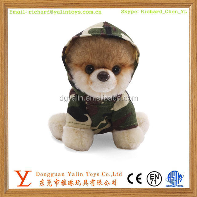 Custom Plush Dogs With Logo Printed Stuffed Plush Dog Toy