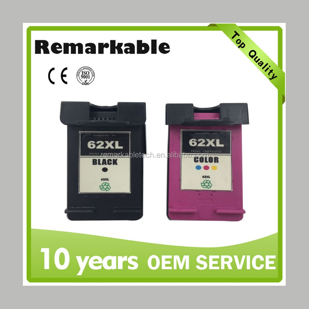 Original Remanufactured Ink cartridge for HP 62 C2P05AE/ C2P07AE