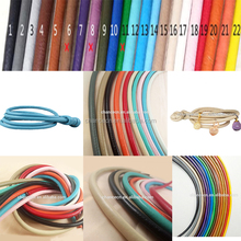 Fashion 2017 custom 4mm-10mm leather rope round leather cord