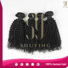 Wholesalers china 7A grade raw brazilian virgin curly human hair extension