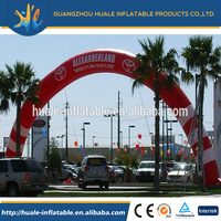 Customized cheap oxford cloth or PVC material advertising inflatable arch for sale