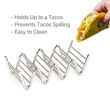 Wave Shape Taco Holders Mexican Food Stainless Steel Rack Stand Holds Kitchen Tool
