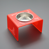 High quality red acrylic pet items for pet food, pet bowls