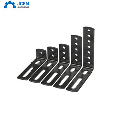 Different size flat metal iron small straight brackets