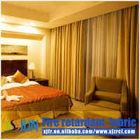 Inherently flame retardant fancy window curtains for living room XJC 0014
