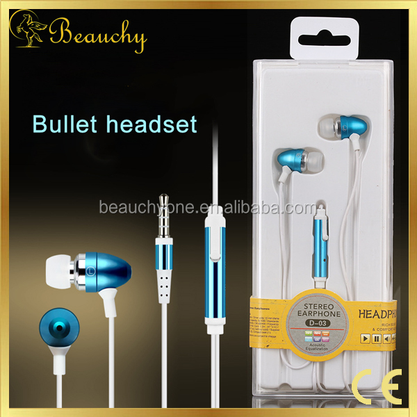 Beauchy NEW bullet shape sports running earphone/earbuds/earpiece/earplug