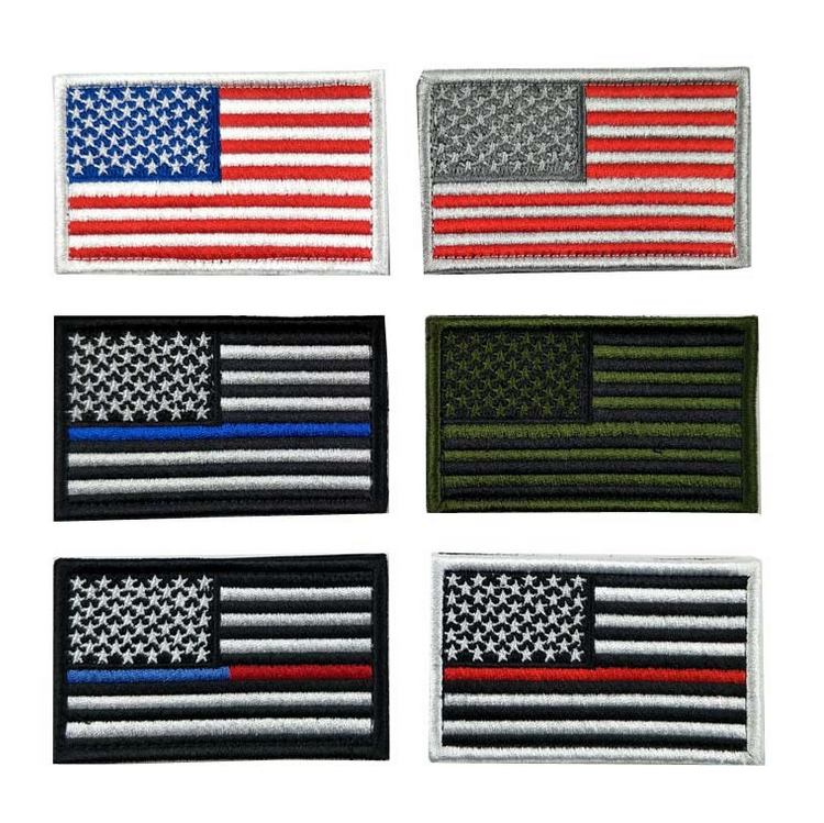 6 Pieces Tactical American Usa Flag Embroidery Patch - Buy ... 62124a5dd6d6