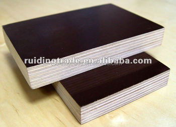 film faced plywood one time hot pressing--poplar/black film