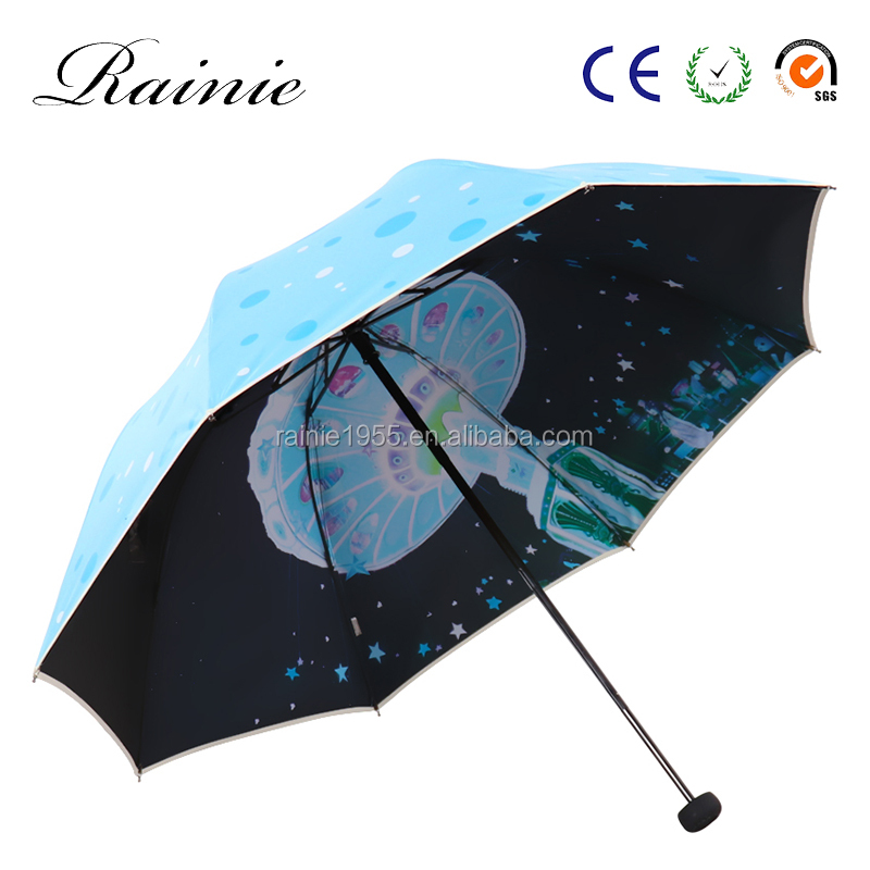 shenzhen factory wholesale folding umbrella with printed logo