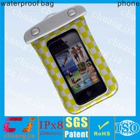 Top quality mobile phone waterproof case with string