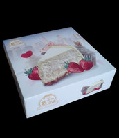 Custom printed cardboard cake box